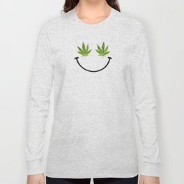 Weed Smile Long Sleeve T-shirt