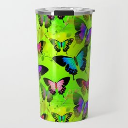 Painted Lady and Morph Butterflies Travel Mug