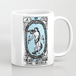 Modern Tarot Design - 21 The World Coffee Mug