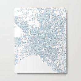 Street MAP Antalya // Blue 2 Metal Print