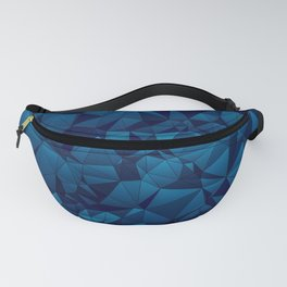 Modern Blues Quilted Pattern Fanny Pack