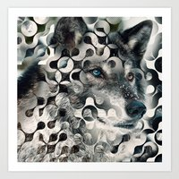 into the wild Art Prints featuring wild by Vin Zzep