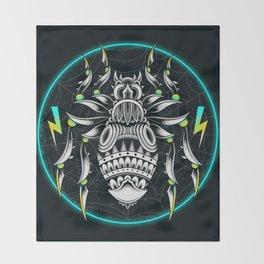 Retrowave Spider Throw Blanket