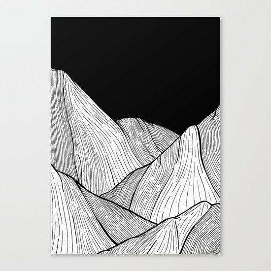 As The Mountains Rise Up Canvas Print
