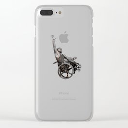 sport on wheels Clear iPhone Case