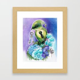 You Hold the Key  - Love Birds Collection - Sheena Pike Framed Art Print
