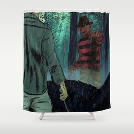 Freddy vs Jason Shower Curtain