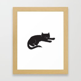Happy Kitty Framed Art Print