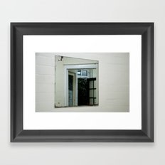 Reflections of an uncertain reality Framed Art Print