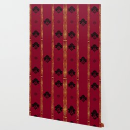 Chic Classique Art Deco Burgundy Red Wallpaper