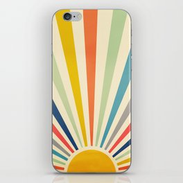 Sun Retro Art III iPhone Skin