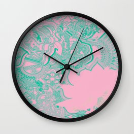 Lotus Beach Flower Wall Clock