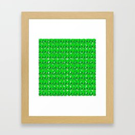 Green hat and four leaf clovers lucky for some Framed Art Print