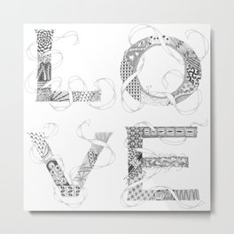 Tangled Love Metal Print