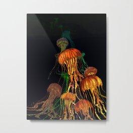 JellyFish Rising Metal Print