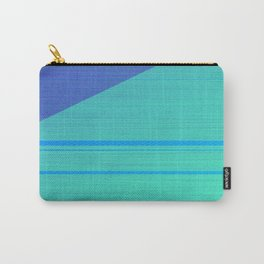 Glitch pattern digital ocean Carry-All Pouch