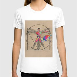 Vitruvian Man and a Burst of Color T-shirt