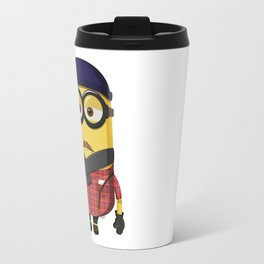 Hipster Minion Travel Mug