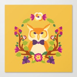 Baltimore Woods Owl - Fall Colors Canvas Print