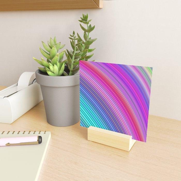 Cold rainbow stripes Mini Art Print