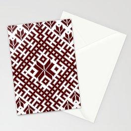Latvian Traditional Folk Belt Design Pattern Stationery Cards