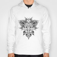 deathly hallows Hoodies featuring Deathly Hallows  by KropsGrafik