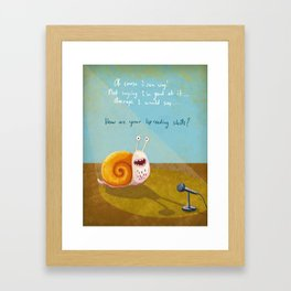 Singing snail Framed Art Print