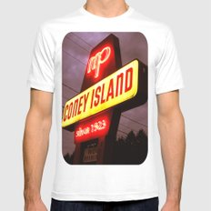 Small Town Coney Island Mens Fitted Tee MEDIUM White