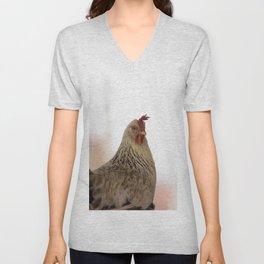 A #chicken in the #portrait Unisex V-Neck