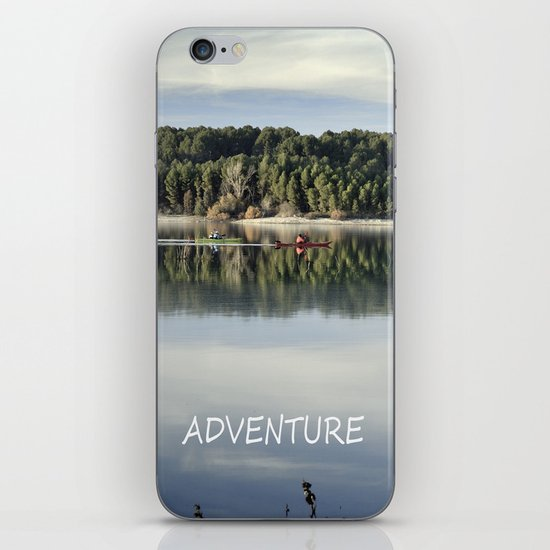 Adventure. Canoeing on the lake.  iPhone & iPod Skin