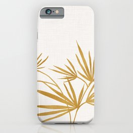 Metallic Gold Fan Palm iPhone Case