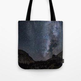 Perseid Over Sacagawea Peak Tote Bag