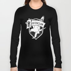 White Ravenclaw Crest Long Sleeve T-shirt
