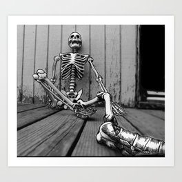 Skeletons on the Deck Art Print