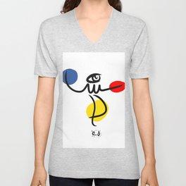 The Juggler of Life Minimal Art Design Unisex V-Neck