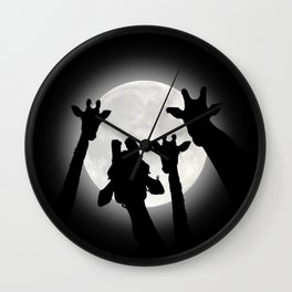 Moonlight Selfie Wall Clock