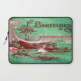 Vintage poster - Kansas Seed House Laptop Sleeve