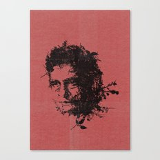 Johnny Cash botanical portrait Canvas Print