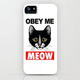 Obey Me, Meow! iPhone Case