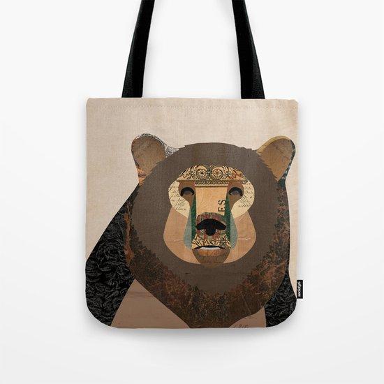 Bear Collage Tote Bag