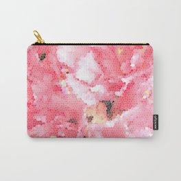 Flower Mosaic Millennial Pink Carry-All Pouch