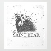 The Saint Bear Art Print