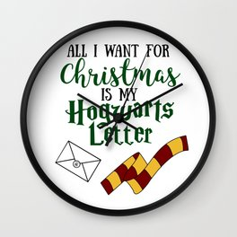 All I want for Christmas is my Hogwarts Letter Wall Clock