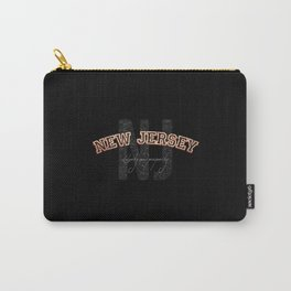 New Jersey Vintage Retro Collegiate Carry-All Pouch