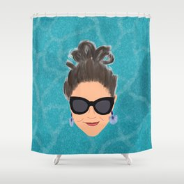 Beach Babe Shower Curtain