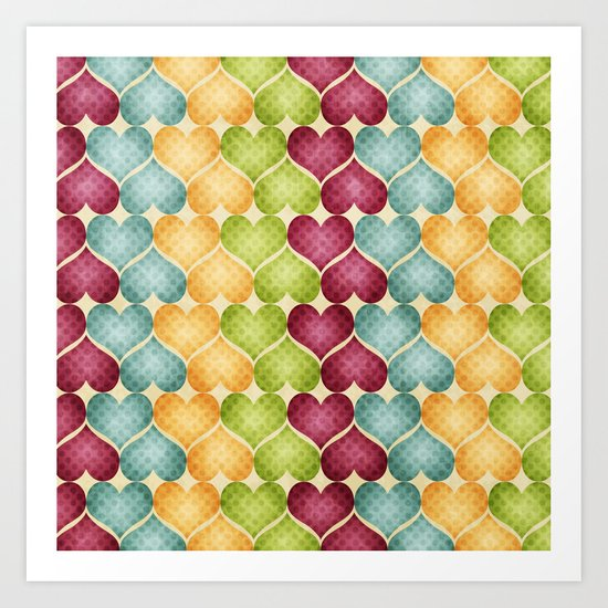 Hearts For Hearts. Art Print