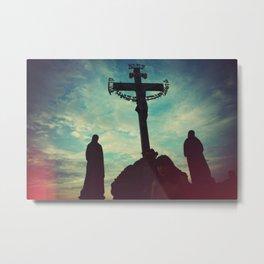 Prague Cross Metal Print