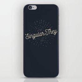 Singular They - Mellow iPhone Skin