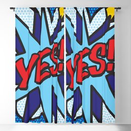 Comic Book YES! Blackout Curtain