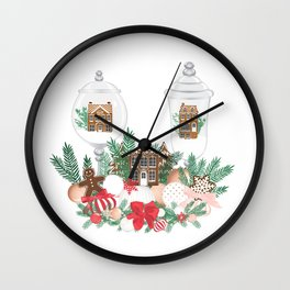 Gingerbread Christmas Wall Clock